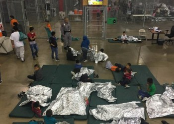 A view of inside U.S. Customs and Border Protection (CBP) detention facility shows children at Rio Grande Valley Centralized Processing Center in Rio Grande City, Texas, U.S., June 17, 2018. Picture taken on June 17, 2018.   Courtesy CBP/Handout via REUTERS   ATTENTION EDITORS - THIS IMAGE HAS BEEN SUPPLIED BY A THIRD PARTY. - RC174C9B4E40