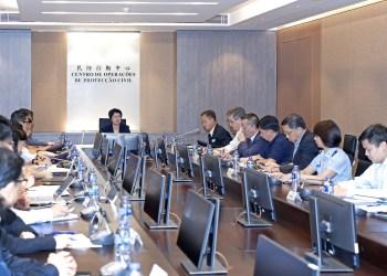 GCS. Sónia Chan, secretária para a Administração e Justiça, reúne com responsáveis da protecção civil