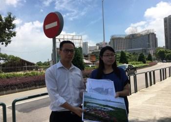 Os deputados Ella Lei e Leong Sun Iok. Foto HM