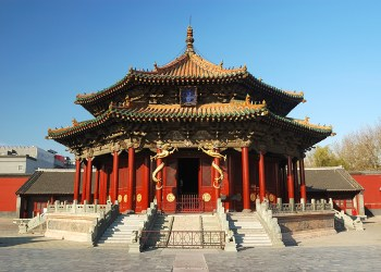 architecture in the Palace museum of Shenyang, China
