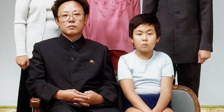 (FILES) This file handout photo taken on August 19, 1981 and released to AFP in 2000 shows North Korean leader Kim Jong-Il (sitting-L) with his son, Kim Jong-Nam (sitting-R), for a family portrait in Pyongyang. The half-brother of North Korean leader Kim Jong-Un, who has been murdered in Malaysia, pleaded for his life after a failed assassination bid in 2012, lawmakers briefed by South Korea's spy chief said on February 15, 2017. Jong-Nam, the eldest son of the late former leader Kim Jong-Il, was once seen as heir apparent but fell out of favour following an embarrassing botched bid in 2001 to enter Japan on a forged passport and visit Disneyland. / AFP PHOTO / Handout /  - South Korea OUT - North Korea OUTHANDOUT/AFP/Getty Images