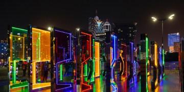 Abertura oficial do festival de Luz de Macau 2019,  que vai estar presente no território até ao dia 31 de dezembro, com instalações em várias partes da cidade. 1 de dezembro de 2019, Macau. CARMO CORREIA/LUSA