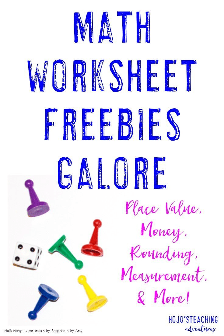 Sometimes a good ol' fashioned printable worksheet is the best way to help students get the math review they need. That's where this blog post comes into play! Click through to five seven, different FREE printables for place value, money, rounding, measurement, and more!