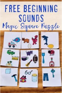 FREE Beginning Sounds Center Game - With this freebie you get three variations of the same puzzle. Students can match the picture to the correct beginning letter sound OR match the pictures with the same beginning sound. It's great for your preschool, Kindergarten, or 1st grade literacy or ELA centers, stations, or rotations. Also use them for enrichment, review, critical thinking, and more. Make sure to pick up your FREE copy today! {preK, K, first graders, homeschool, phonics}