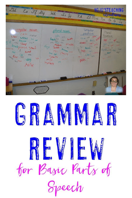 Do your students struggle to identify basic parts of speech? Then try this basic grammar review game! It's a great way to review or start a unit at ANY elementary grade level - 1st, 2nd, 3rd, 4th, 5th, or 6th grade!