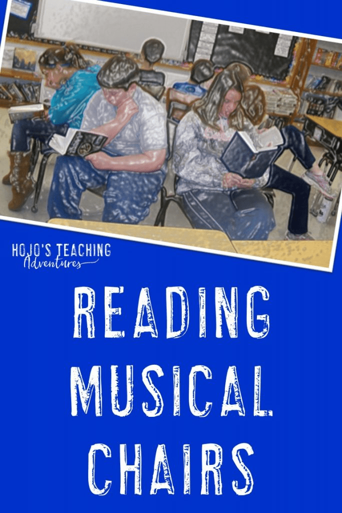 """Want your students to try out a variety of genres? Then try out """"Reading Musical Chairs""""! This is a great activity to do in your 2nd, 3rd, 4th, 5th, or 6th grade classroom. It's perfect for those """"off"""" days where students aren't really ready to pay full attention due to testing, holidays, an assembly, or something else putting the schedule """"off"""". Click through to see how awesome it is! It's also great for a fun literacy center. #HoJoTeaches #Reading #ReadingFUN #ReadingComprehension #Genres"""
