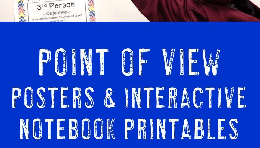 Point of View Posters {1st, 2nd, and 3rd Person}