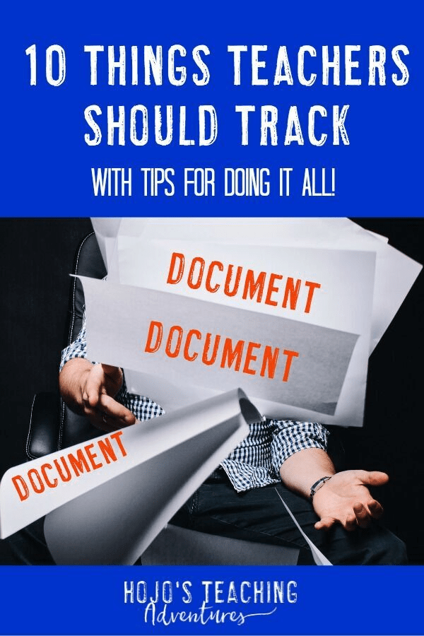 Documentation is important as a teacher. If you need some tips & ideas, you will find some help here! If your students constantly turn in work late, make a note. If a student requires additional services, if their behavior is questionable, if you perform extra duties, or cover certain standards - be sure to write it down. It's always best to have notes of things you have done so you can reference them later. Plus they're great for conferences, IEP meetings, interventions, and more! #HoJoTeaches