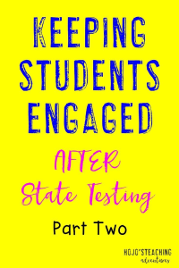 Looking for great ideas, tips, and activities to keep students engaged after testing is done? Then this blog post will help you out! {It's even got some FREEBIES in store for you!}