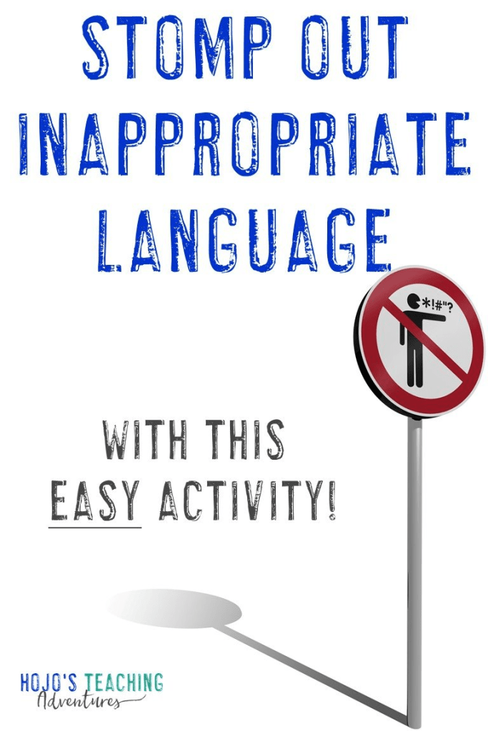 "Regardless of which elementary grade you teach, you can keep bad language at bay by using the ""stomp"" method outlined in this blog post. This teacher has had success using this in her Kindergarten, 4th, and 6th grade classroom - so you can be sure it'll work with your 1st, 2nd, 3rd, and 5th grade students as well. It's a great classroom management strategy that will work great during the first days of school or anytime you need to get students language (or cussing) under control! #HoJoTeaches"