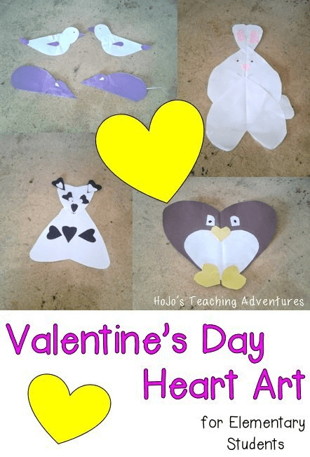 Check out these awesome Valentine's Day Heart Art ideas for elementary students! These will be a hit in your classroom!