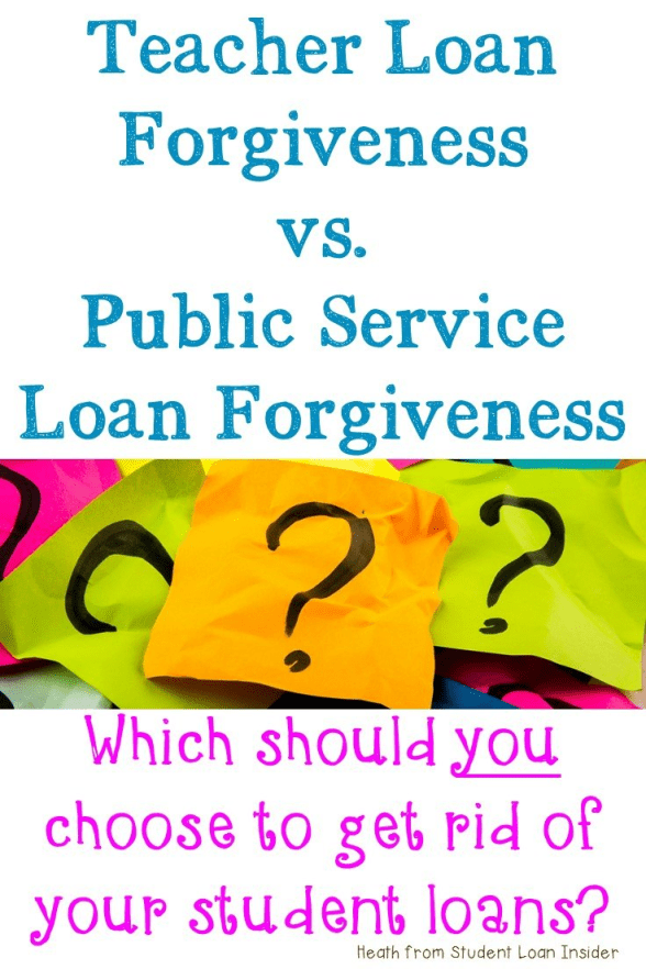 Are you a teacher? Do you still have student loans? See if you can use either the Teacher Student Loan Forgiveness program OR Public Service Loan Forgiveness to get your student loan debt forgiven. Click through to learn more about each and see which one is right for you! {Sign up for your FREE download with more information too!}