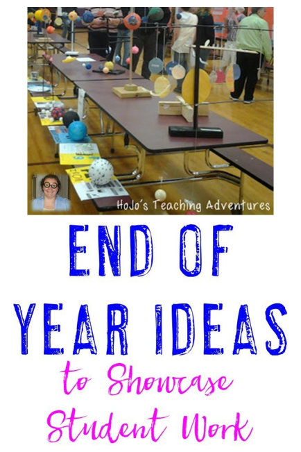 Here are some great ways to showcase all of the work your students have done all year! These ideas are great for end of year in 2nd, 3rd, 4th, 5th, 6th, 7th, and 8th grade! You'll be able to do activities with history, poetry, science, and more!