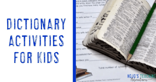 small resolution of Dictionary Resources for the Elementary Classroom - Hojo's Teaching