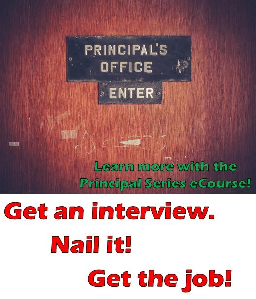 Looking to get your first (or a new) principal position? Then you're going to love this ecourse! It will help you get everything ready for the principal interview. Plus there are great tips for creating a principal interview binder. Click through to learn more!