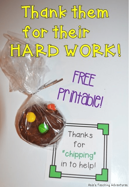 "If you're looking for a staff appreciation idea, you've come to the right place! This free download is perfect for showing your appreciation when someone ""chips"" in to help! Maybe they covered an extra recess, stepped up for lunch duty, or led that new committee. Regardless - show them how much you appreciate their efforts and that they don't go unnoticed with this FREE download! Pair it with a cookie or small bag of chips, and you're all set!"