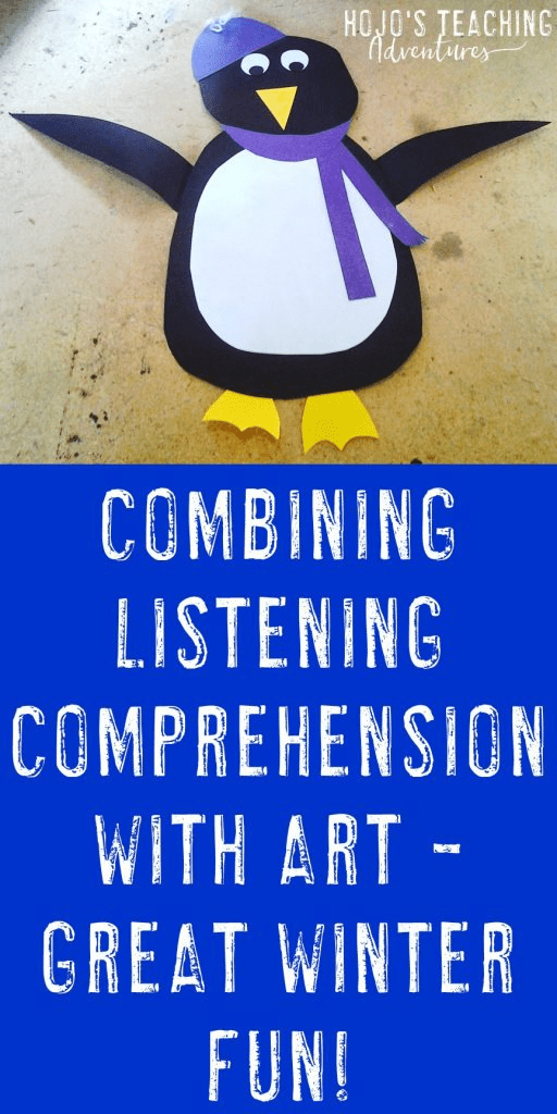 If you're looking for a fun way to practice listening comprehension with your elementary students this winter season, look no further! Here you'll find a fun penguin art activity that you can use to help your Kindergarten, 1st, 2nd, 3rd, 4th, or 5th graders master listening any time during December or January. These little penguins make a fun bulletin board display, or simply use them to make the classroom festive during the wintertime months. Also great for homeschool families!