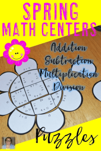 Are you looking for engaging spring math centers to keep your 1st, 2nd, 3rd, 4th, or 5th grade students on task? Then you're going to love these engaging puzzles!