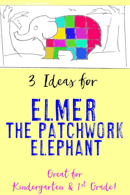 Are you looking for ways to bring books alive in your lower elementary classroom? Then check out this fun activity for Elmer the Patchwork Elephant! Your Kindergarten and 1st grade students will love the activities included!