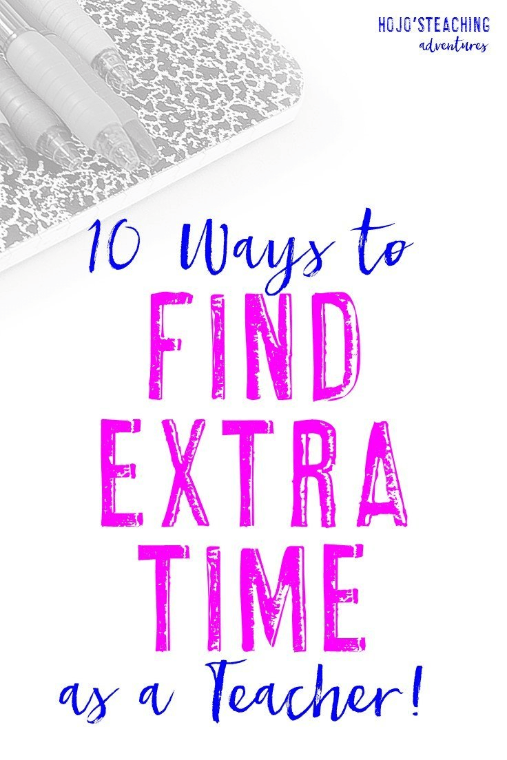 It can be hard to find extra time as a teacher, but it doesn't need to be impossible! Use the ten ideas at this blog post to squeeze more time out of your school day so you can spend more time with family and friends to enjoy yourself during the evenings and weekends. You CAN be a great teacher without putting every waking moment into your work!