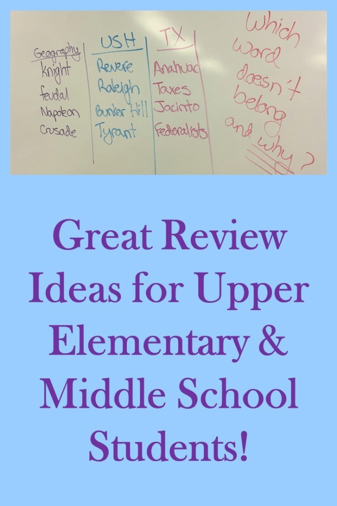 This blog post has great ideas for social studies review for upper elementary students. But they can also be used for reading, science, and other literacy based learning. Click through to see if this will work for your 3rd, 4th, 5th, 6th, 7th, or 8th grade classroom or home school students. {third, fourth, fifth, sixth, seventh, eighth graders, middle school, junior high}