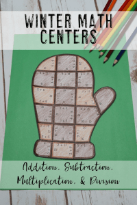 Your 1st, 2nd, 3rd, 4th, and 5th grade classroom or home school students will love being able to do math puzzles during the school year. Check out this mitten puzzle for winter, December, January, or February, math stations. Your students can practice addition, subtraction, multiplication, and division math skills. Plus get a FREE download at the blog post to test out the puzzle game format. Great for math centers! {first, second, third, fourth, fifth graders, freebie, homeschool}