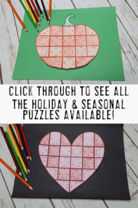 Your 1st, 2nd, 3rd, 4th, and 5th grade classroom or home school students will love being able to do math puzzles throughout the school year. With 15 different seasons covered, your students will enjoy math enrichment, centers, stations, partner work, independent work, and more. Valentine's Day, Halloween, fall pumpkins, St. Patrick's Day, spring flowers, and more are all included. Plus get a FREE download at the blog post! {first, second, third, fourth, fifth graders, freebie, homeschool}