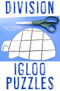 Fun division igloo activities for your 3rd, 4th, or 5th grade students!