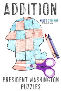 Click here to purchase my Addition President Washington Puzzles!