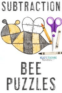 Click to buy BEE subtraction puzzles!
