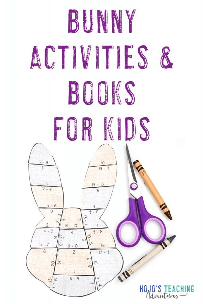 Bunny Activities & Books for Kids - with picture of bunny puzzle