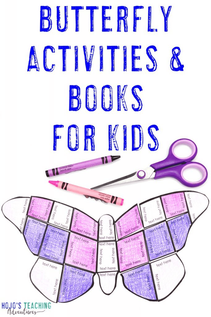 Butterfly Activities & Books for Kids - showing an editable butterfly puzzle option