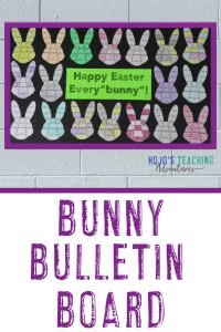 "Bunny Bulletin Board - with ""Happy Easter Every'bunny'!"" on it"