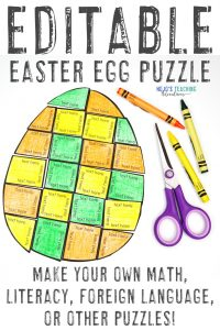 Click here to buy your own EDITABLE Easter Egg Puzzle!