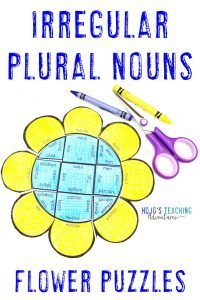 Click here to buy IRREGULAR PLURAL NOUNS spring literacy puzzles!