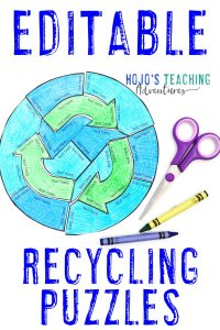 Editable Recyling Puzzles to celebrate earth day