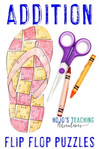 Click to buy your own ADDITION flip flop math games!