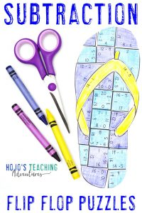 Click to buy your own SUBTRACTION flip flop math games!