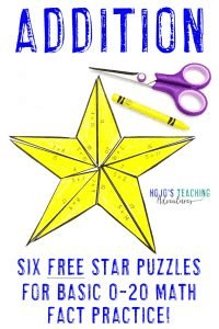 Click to get your own FREE addition star math activities!