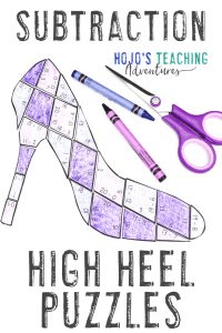 Click to grab your own high heel SUBTRACTION math games!