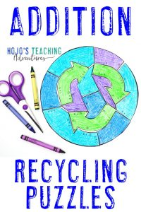 ADDITION recycling puzzles