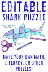 Click to buy your own copy of an EDITABLE shark puzzle!