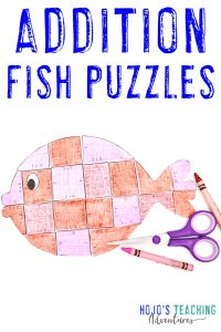 Click to get your three FREE addition fish puzzles!
