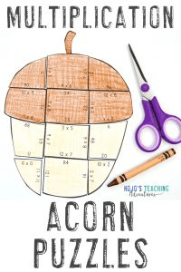 Click to buy your own multiplication acorn games!