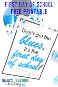 Click to get your FREE first day of school printable gift download!