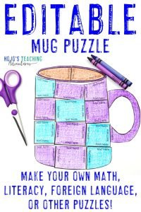Click to buy your EDITABLE hot cocoa activity puzzle now!