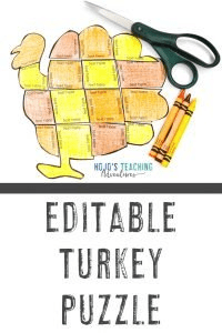 Click to buy your own editable turkey puzzle to create your own activities on ANY topic!
