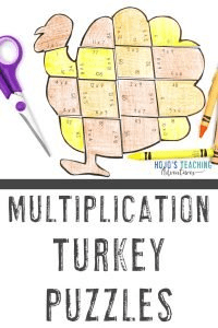 Click to buy your own multiplication turkey activities!