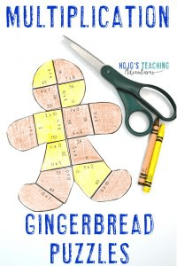 Gingerbread Activities | Multiplication Gingerbread Puzzles