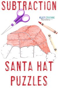 Click to get your own subtraction santa hat puzzles now!